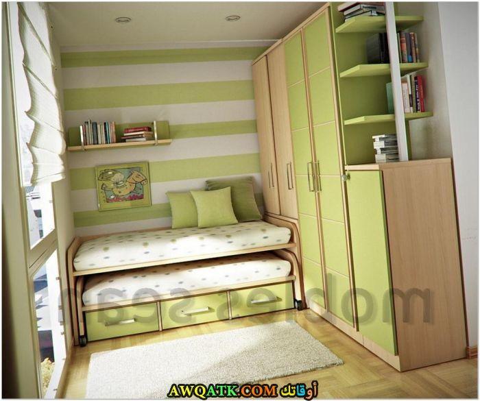 غرفة نوم خضراء شيك ورائعة