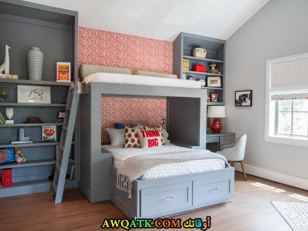 غرف نوم جميلة جداً رمادية