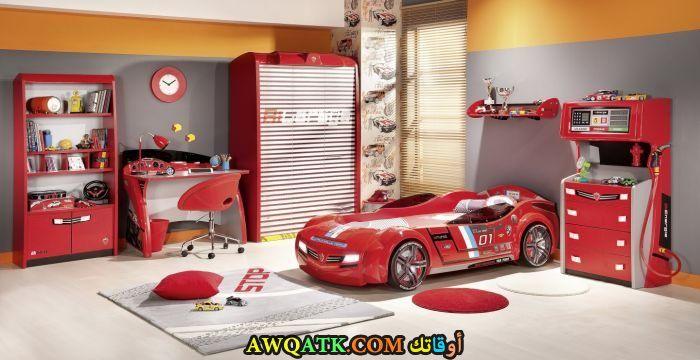 غرفة نوم روعة حمراء