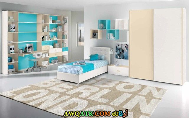 غرفة نوم بيضاء مودرن