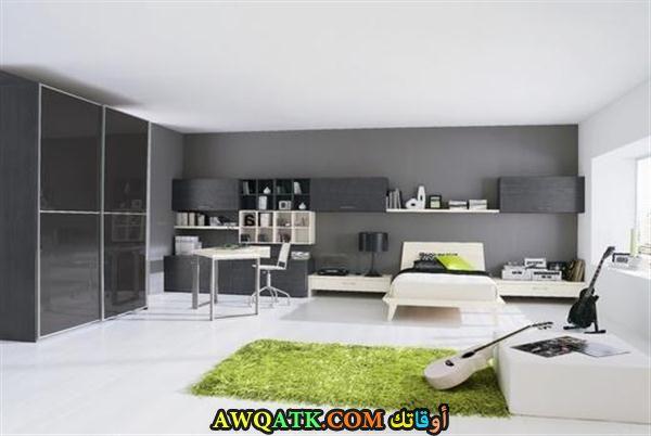 غرفة نوم شيك باللون الرمادي