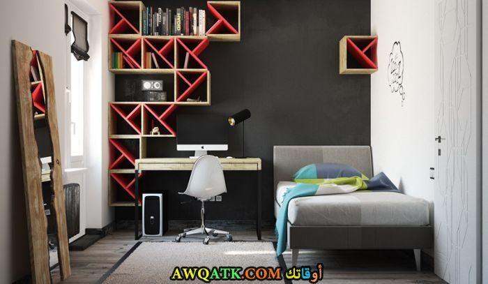 غرفة نوم رمادية مودرن