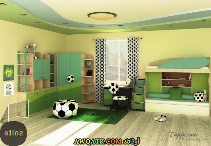غرف نوم خضراء شيك جداً