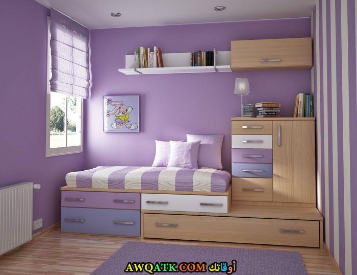 غرفة نوم باللون المف روعة وشيك