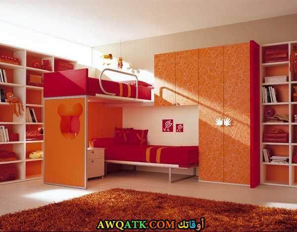 غرفة نوم باللون البرتقالي 2017 رائعة