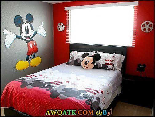 غرفة نوم حمراء جميلة