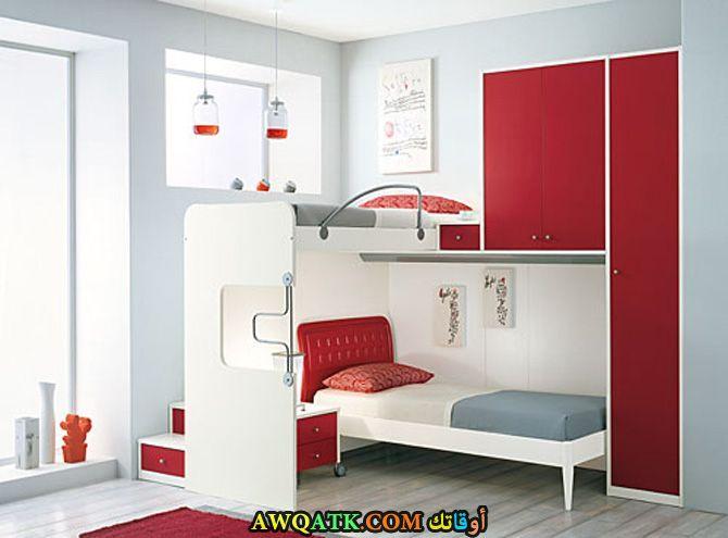 غرفة نوم باللون الأحمر جميلة جداًا