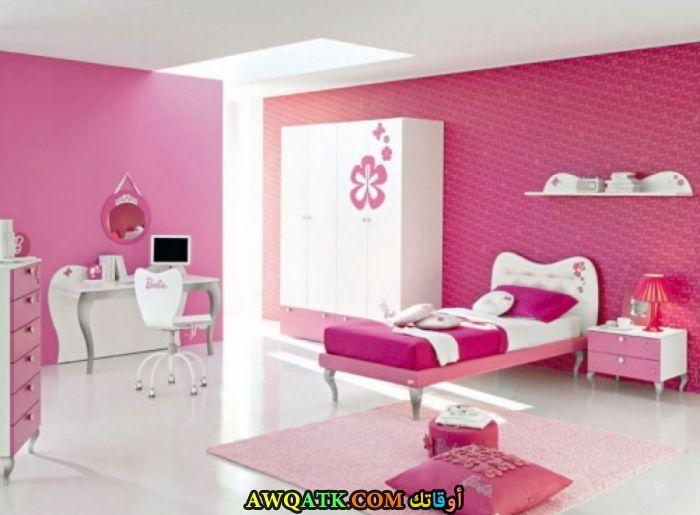 غرفة نوم باللون البينك شيك جداً