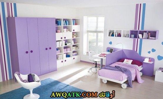 غرفة نوم موف رائعة وجميلة
