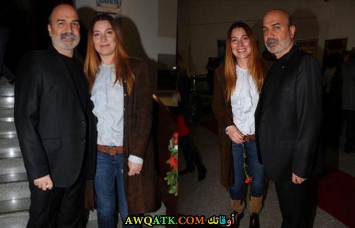 صورة الفنانة التركية فاهيد جوردوم وزوجها