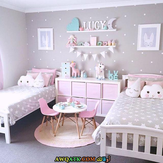 غرف نوم أطفال أيكيا باللون الأبيض والرمادي