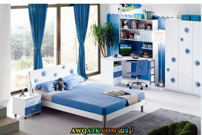 غرفة نوم أيكا زرقاء 2017