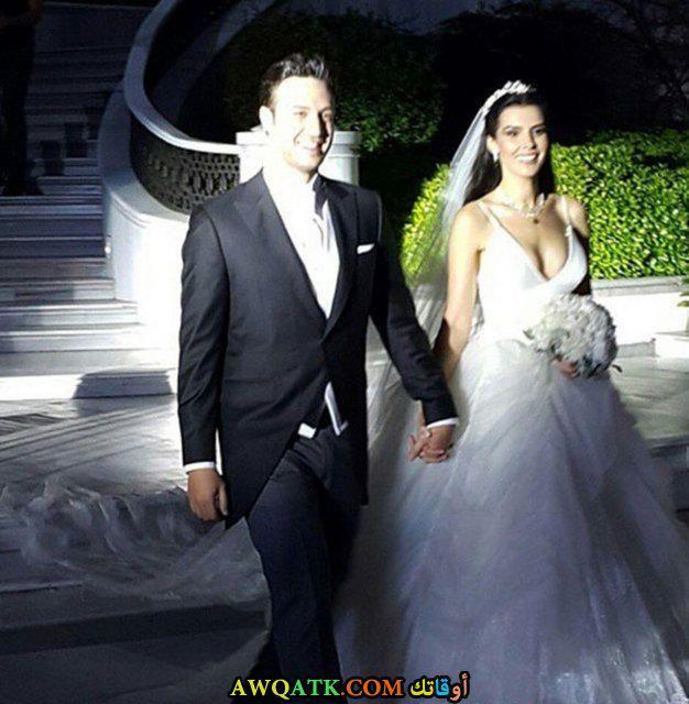 صورة من حفل زفاف الفنانة خديجة شنديل