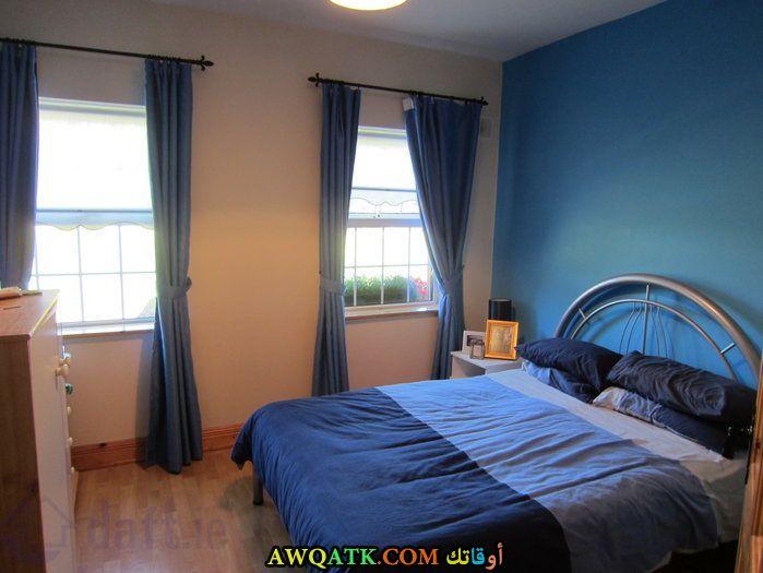 غرفة نوم زرقاء شيك