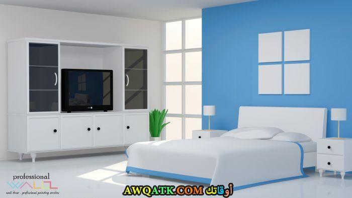 غرفة نوم باللون اللبني رائعة
