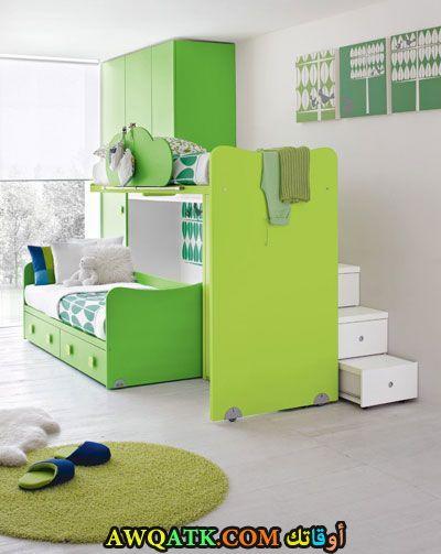 غرفة نوم خضراء جميلة جداً