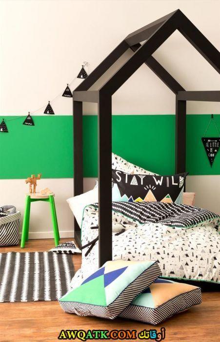 غرفة نوم رائعة باللون الأخضر