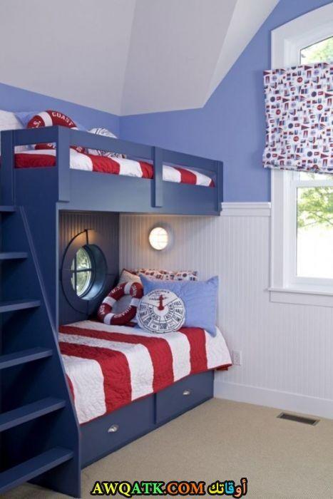 غرفة نوم زرقااء جميلة