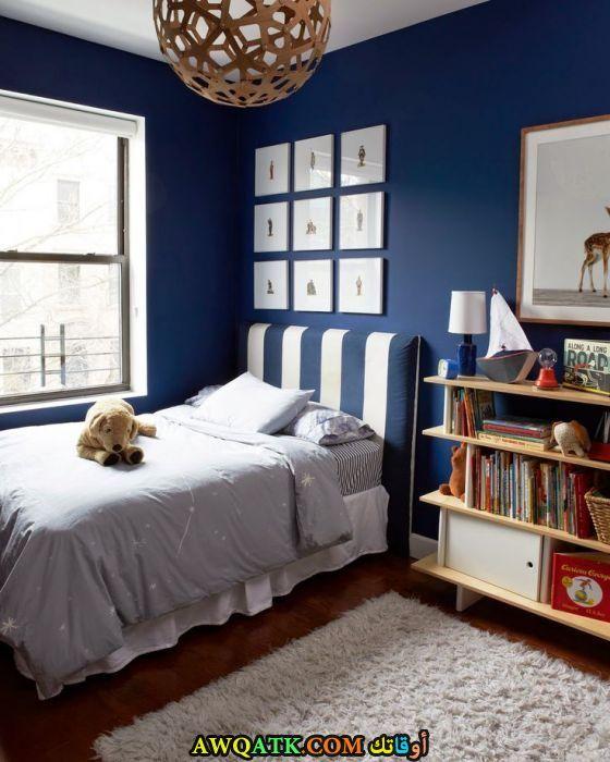 غرفة نوم زرقااء رائعة