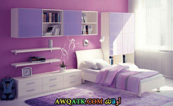 غرفة نوم باللون الموف روعة وجميلة
