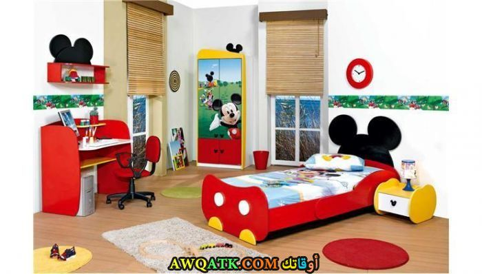 غرفة نوم حمراء شيك جداً