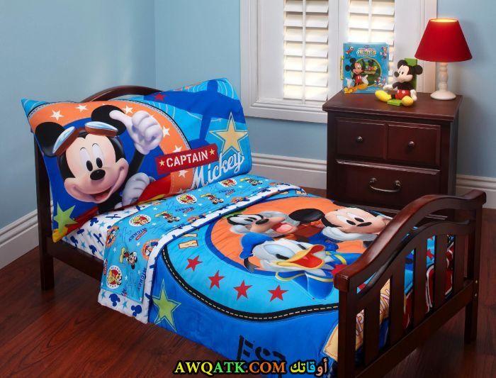 غرفة نوم ميكي زرقاء