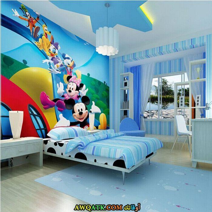 غرفة نوم باللون البني روعة