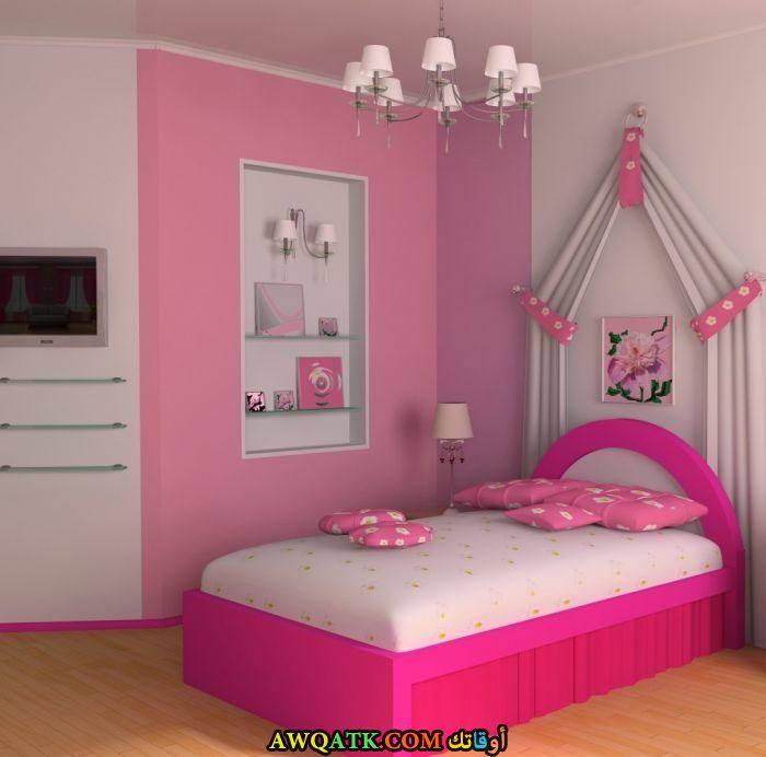 غرفة نوم أطفال باللون البينك الهادي