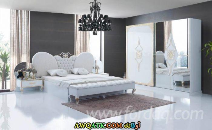 غرفة نوم تركية بيضاء