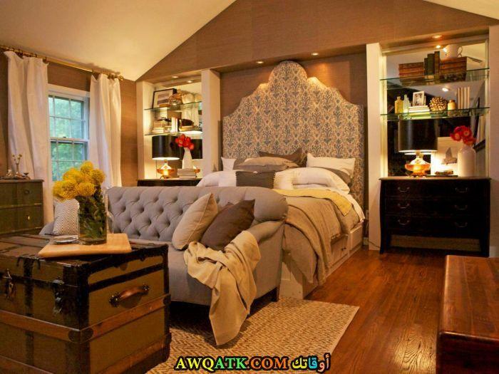 غرفة نوم باللون البيج جميلة