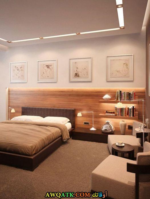 غرفة نوم خشب جميلة جداً