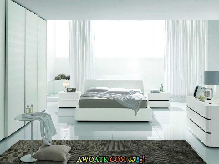غرفة نوم خشب جميلة جداً وشيك