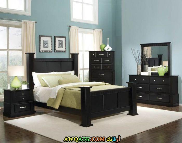 غرفة نوم باللون الأسود روعة