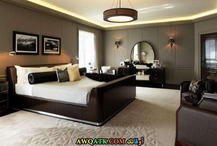 غرفة نوم خشب جميلة ورائعة
