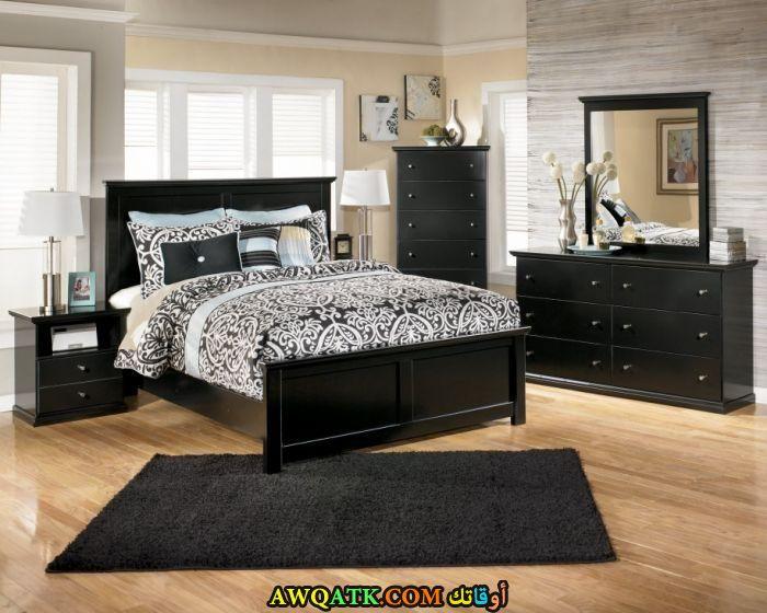 غرفة نوم خشب أرو روعة وشيك