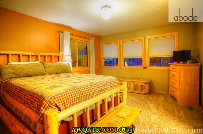 غرفة نوم خشب رائعة