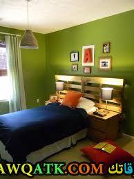 غرفة نوم خضراء جميلة