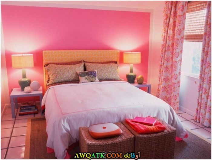 غرفة نوم باللون البينك روعة