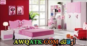 غرفة نوم باللون البينك رائعة