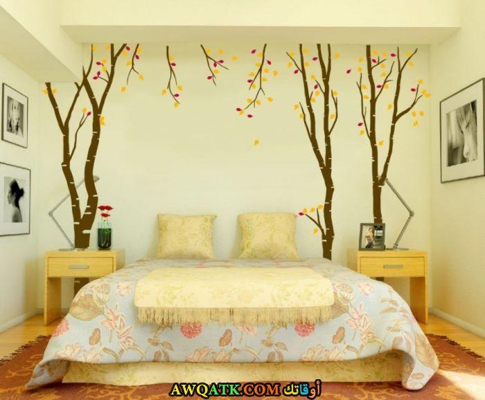 غرفة نوم خشب مودرن