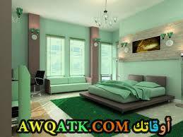 غرفة نوم باللون الأخضر رائعة