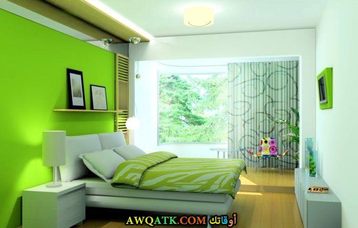 غرفة نوم خضراء رائعة