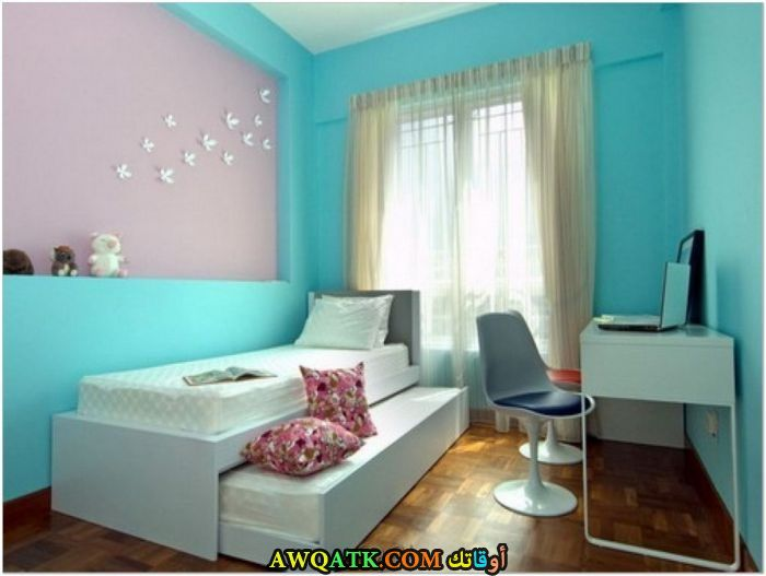 غرفة نوم لبني جميلة جداً
