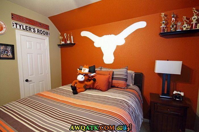 غرفة نوم برتقالية روعة