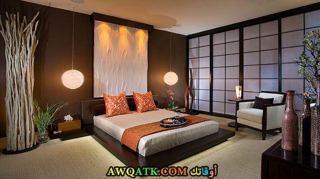 غرفة نوم بنية جميلة وروعة