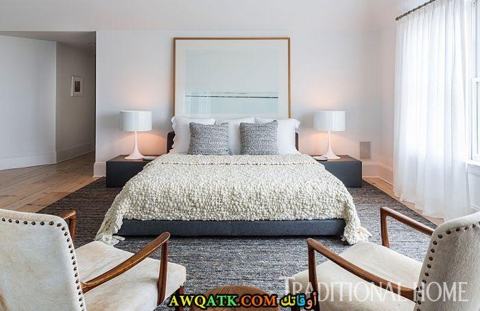 غرفة نوم بيضاء روعة وشيك