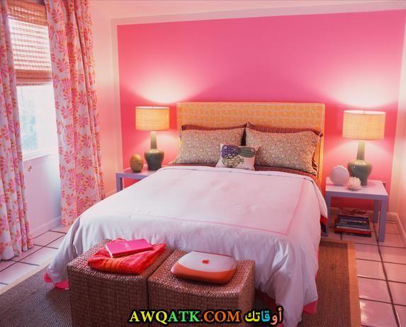 غرفة نوم بينك شيك وروعة