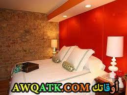 غرفة نوم برتقالية رائعة