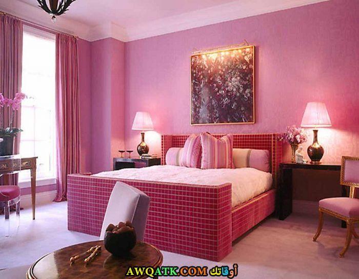 غرفة نوم جميلة باللون البينك