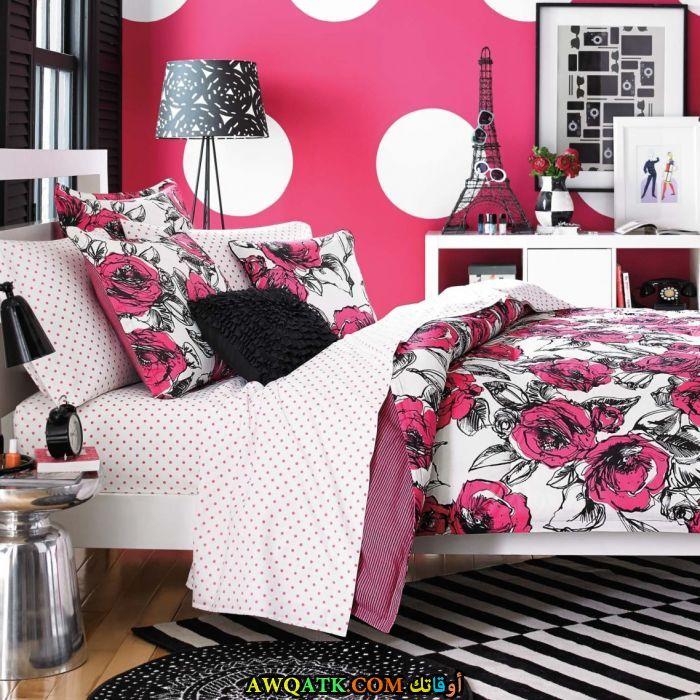 غرفة نوم شيك باللون البينك